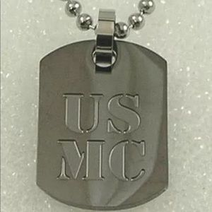 Jewelry - US Navy Dog Tag Necklace Stainless Steel Black